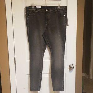 Size 22 H & M black wash skinny jeans